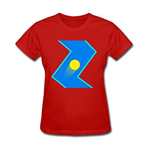 SLJD Women's Geometry Jump Hanger Physics Fly LIte Design Short Sleeve T Shirt