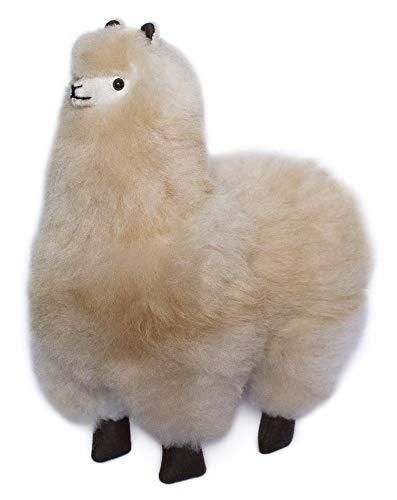 Incatrade 12 inch. Beige Alpaca Fur Toy. Handmade on Genuine Baby Alpaca Wool. Alpaca Plush (12 inch)