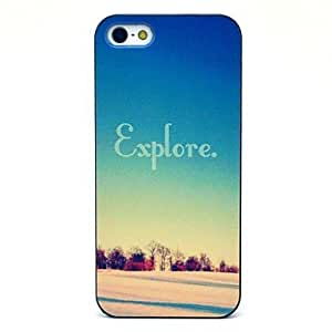 QHY Desert Explore Pattern Hard Case for iPhone 5/5S