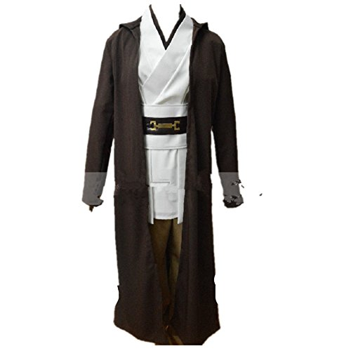 [Star Wars Jedi Master Obi WanBen Kenobi Cosplay Costume] (Child Star Wars Costume Australia)
