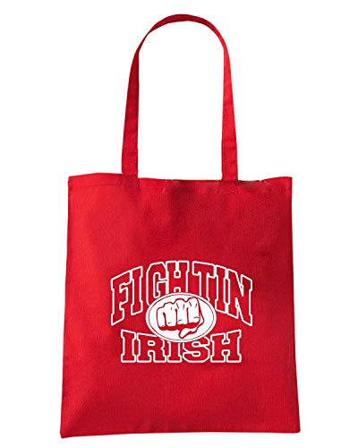 Speed Shirt Borsa Shopper Rossa TIR0248 IRISH FIGHTIN