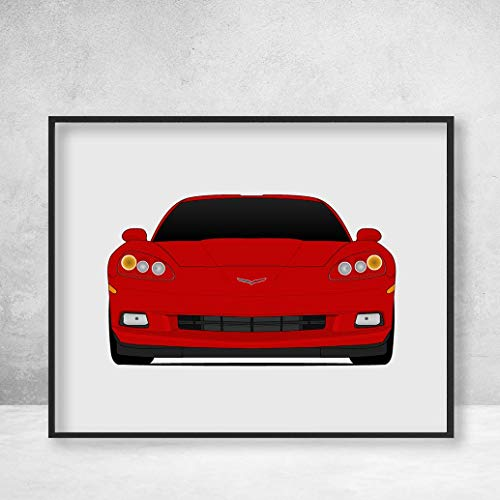 Chevy Corvette C6 Z51 2004-2013 Poster Print Wall Art Decor Handmade (Stingray Z06 Z51 Grandsport)