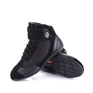 Cycling Shoes, Men's Mountain Bike Shoes Breathable Anti-Slip Cushioning Road Biking Shoes Walking Training Motorcycle Shoes,Black,44