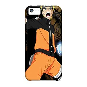 For Harries Iphone Protective Case, High Quality For Iphone 5c Naruto Uzumaki Yelling Skin Case Cover by mcsharks