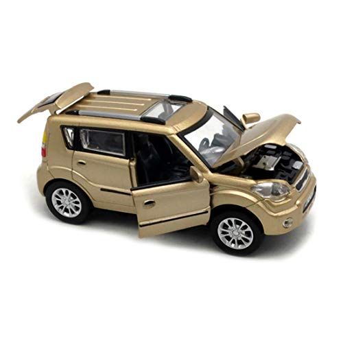 KMT Alloy Diecast Car Models KIA Soul Model Cars - Diecast Gold Car
