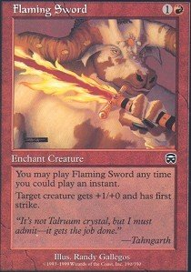 Magic: the Gathering - Flaming Sword - Mercadian Masques