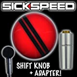 Red/Black Rally Stripe Shift Knob & Automatic Adapter For Auto Gear Shifter for Pontiac G6