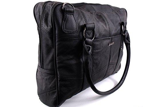 The Leather Emporium , Borsa Messenger  grigio grigio