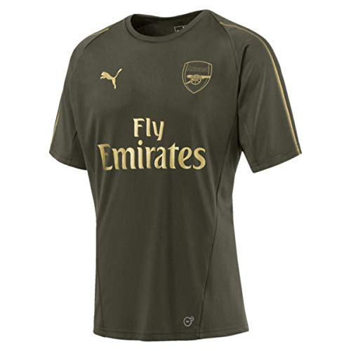 PUMA 2018-2019 Arsenal Training Football Soccer T-Shirt Jersey (Forest Night) (Jersey Soccer Puma Training)