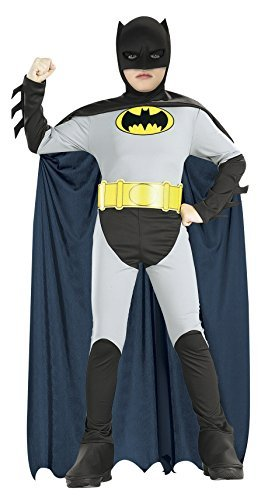 [Batman Classic Halloween Costume Children-USA Size 4-6 (Ages 3-4)] (Usa Costume For Kids Boys)