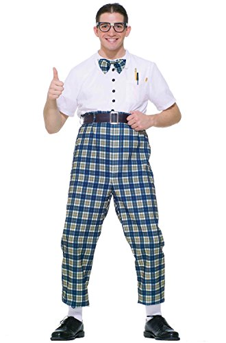 Forum Novelties Men's Fabulous 50's Class Nerd Costume, Multi, - Nerd Costume Pants
