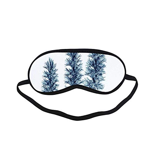 (Xray Flower Fashion Black Printed Sleep Mask,X ray Image of Plants with Floral Radiography in Nature Design Modern Art for Bedroom,7.1
