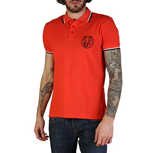 Versace Jeans Men Red Polo - Versace Mens Spring Clothing