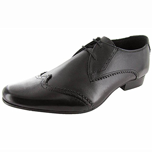Ben Sherman Hombres Myas Brogue Oxford Shoe Black