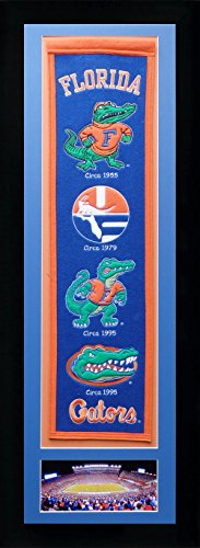 NCAA Florida Gators Legends Never Die Team Heritage Banner with Photo, Team Colors, 15