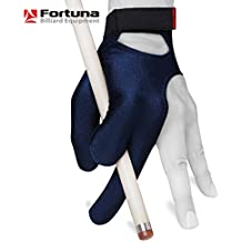 Billiard GLOVE by Fortuna - Classic - for Left hand - Blue - with Strap