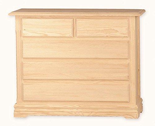 Muebles Natural - Comodín Modelo Ibiza de madera, con zócalo, 5 ...
