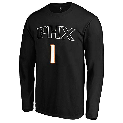 timeless design b6fc0 20143 Outerstuff NBA Youth Game Time Team Color Player Name and Number Long  Sleeve Jersey T-Shirt (X-Large 18/20, Devin Booker Phoenix Suns)