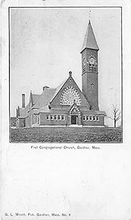 First Congregational Church Gardner Massachusetts Postcard