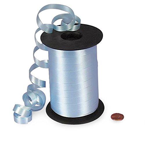 Pastel Blue Crimped Curling Ribbon 3/8