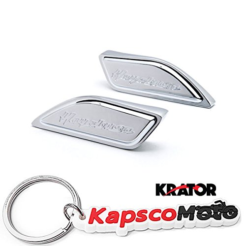 - Krator Chrome Gas Tank Pad Side Cover Cap for Suzuki Hayabusa Busa GSX1300R 1999-2014 Chrome Gas Tank Pad Side Cover Cap Hayabusa Logo + KapscoMoto Keychain