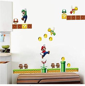 Adesivi Murali Super Mario.Adesivi Murali Super Mario Wall Stickers 3d Per La Stanza Dei