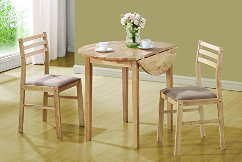 Coaster 3 Piece Dining Set Natural (Kitchen Table Sets Under 200)