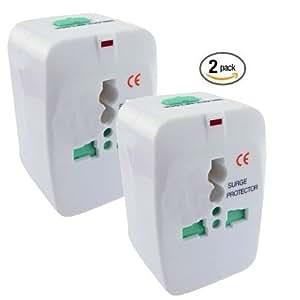 ClearMax AMZUNVP Universal Travel Power Adapter, 2-Pack