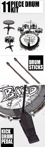 11-pc-Childrens-Kids-Musical-Instrument-Drum-Play-Set-w-6-Drums-Cymbal-Chair-Kick-Pedal-Drumsticks