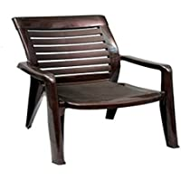 Nilkamal 2180 Plastic Chair (Brown, Set of 2)