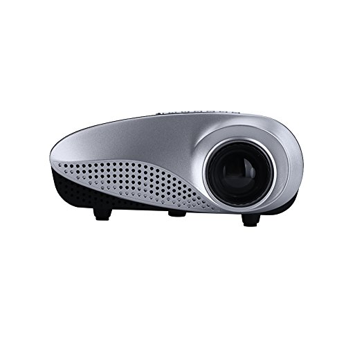 Mini Projector,720P HD Portable LED Projectors with Home Theater USB HDMI VGA AV TV SD_US by ZZH