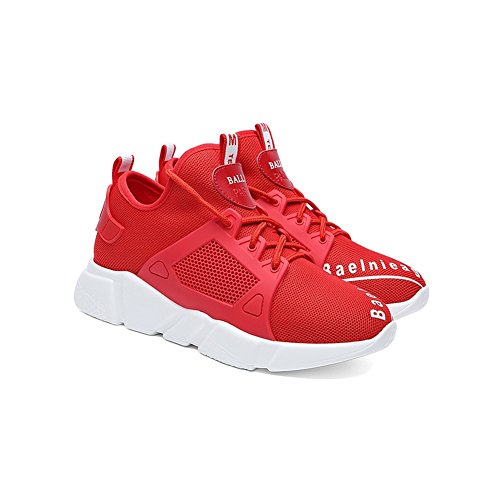 Rojo Athletic 39 Zapatillas Casual Spring Zapatos Low Fall Ladies tamaño de Mujer 2018 Transpirable Mujer Shoes Mesh Summer Color Sneakers Casual Shoes Running de Top Zapatos Knit vvFC7qSn