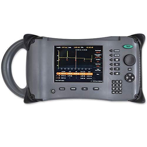 OTDR Single Mode SM (1310/1550) / 38db Dynamic Range / 6 Critical Test Fiber Optic Tests Zeus/Power Meter and Visual Fault Locator Included