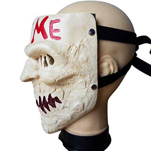 The Purge Movie Kiss Me Mask Halloween Mask Horror Cosplay Game Scary Joker Mask for Halloween Fancy Dress Accessory by baoshihua (Image #2)