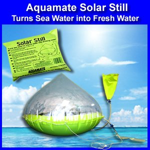Solar Water Purification (Aquamate Solar Still Emergency Water Purification Inflatable Kit)