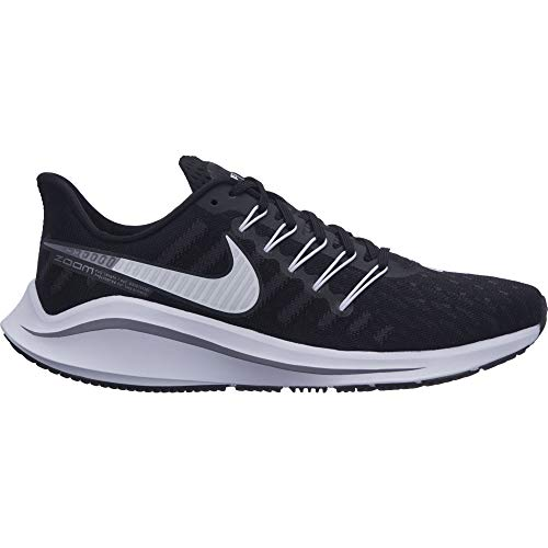 Nike Women's Air Zoom Vomero 14 Running Shoe Black/White/Thunder Grey Size 8 W US