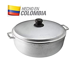 IMUSA USA GAU-80505W 4.8Qt Traditional Colombian Caldero for Cooking and Serving, Silver