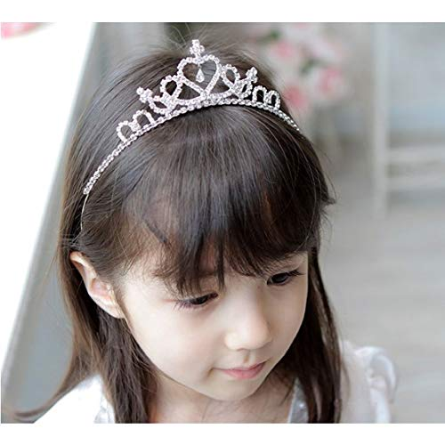 (Girls Princess Crystal Tiara Crown For Birthday)