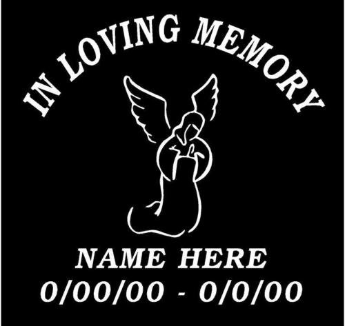 in memory of loved one decal - 2