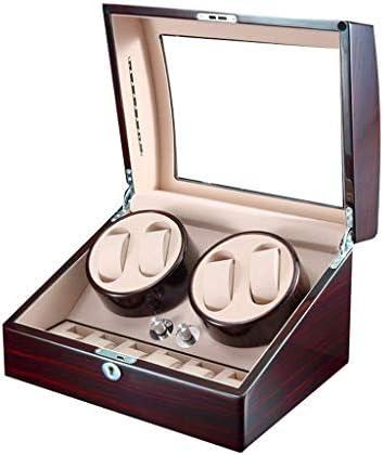 上げ機 自動回転]ウォッチワインダー5回転モード収納ディスプレイボックス6 + 7レザー収納ボックス 腕時計ワインディングマシーン (Color : B)