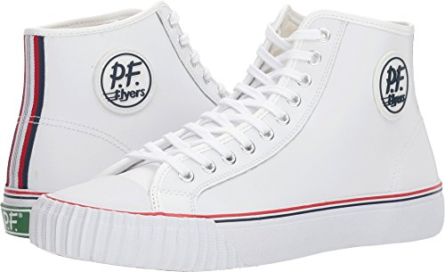 PF Flyers Men's ML2001WH, White, 8.5 D US (Pf Flyers Classic Shoes)