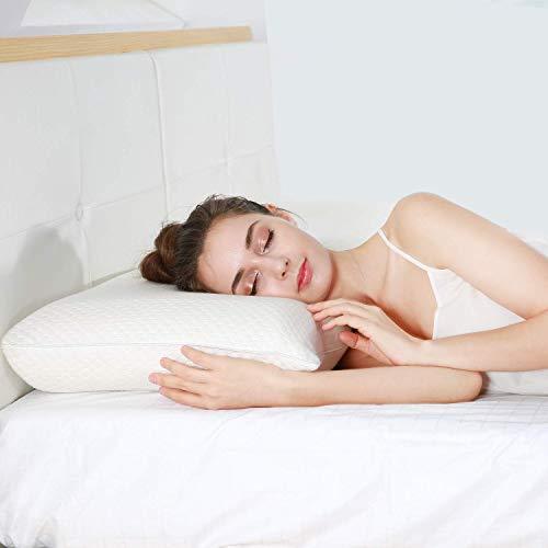 "UTTU Sandwich Pillow [QUEEN SIZE], 20"" x 30"" Adjustable Memory Foam Pillow, Bamboo Pillow for Sleeping, Side Sleeper Pillow for Neck and Shoulder Pain, Hypoallergenic Cooling Bed Pillow, CertiPUR-US"