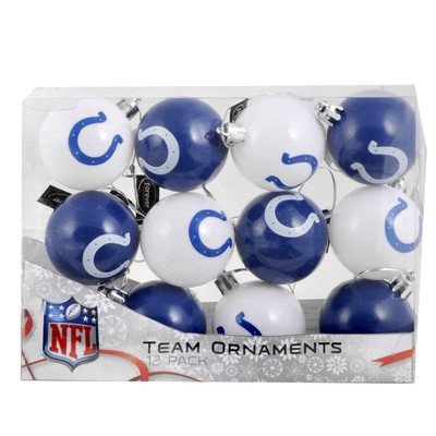 NFL Ball Ornament (Set of 12) NFL Team: Indianapolis - Ornaments Christmas Colts