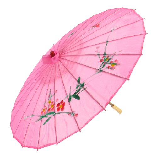 uxcell Plum Blossom Print Pink Bamboo 31.5