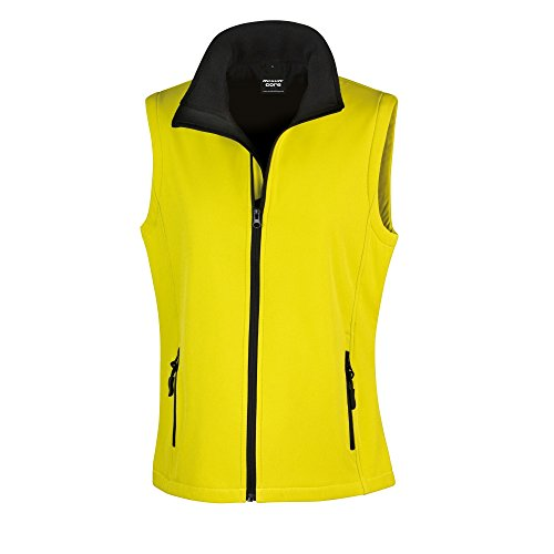 para Chaleco mujer Negro Result Core softshell Amarillo ZwftwqU
