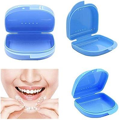 Caja para Ortodoncia Protesis Dental Dentadura Postiza Estuche para Retenedores Dentales: Amazon.es: Salud y cuidado personal