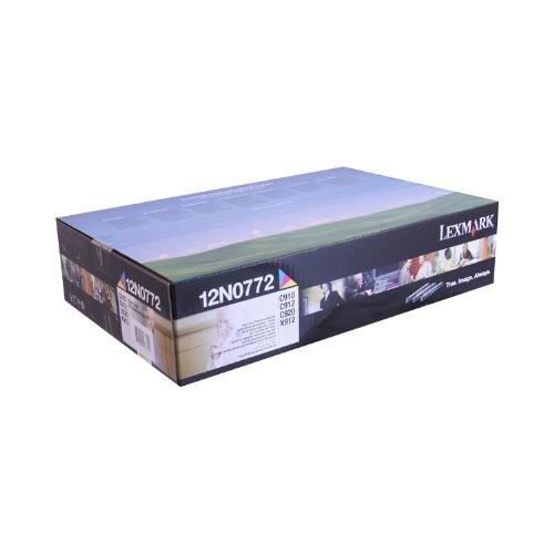 C912 Magenta Toner - Lexmark 12N0772 OEM Developer - C910 C912 C920 X912e Color Photodeveloper Set (28000 Yield per Color - C/M/Y) OEM