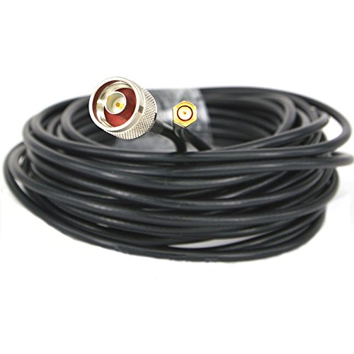 Cable de antena coaxial WIFI de 5,8 GHz macho N a RP SMA macho RG58 10M / 33ft: Amazon.es: Electrónica