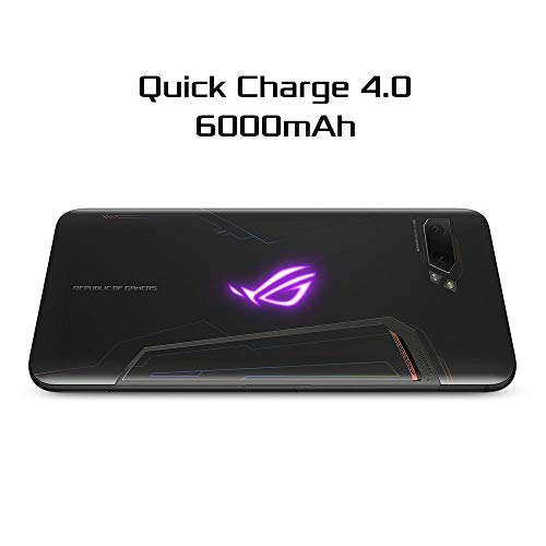 """ASUS Rog Phone 2 (New) Unlocked Gsm Us Version & Warranty, Storage, 12Gb Ram, 6.6"""" Fhd+ Amoled 120Hz Display, Snapdragon 855 Plus, No Volte, Gaming Smartphone (Zs660Kl-S855P-12G1T-Mb) (1Tb)"""