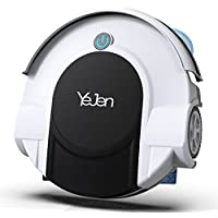 YEJEN Robotic Cleaner with Drop-Sensing Technology, Vacuum and sweeper for Hard floor and Low-Pile Carpet, HEPA-Style Filter&Mopping Function - Cleaning Robot(Deluxe Edition)